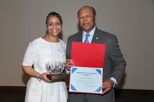 Alumna honored for commitment to students