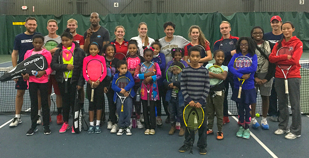 Tennis teams share their love for the sport