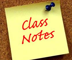 Alumni Class Notes