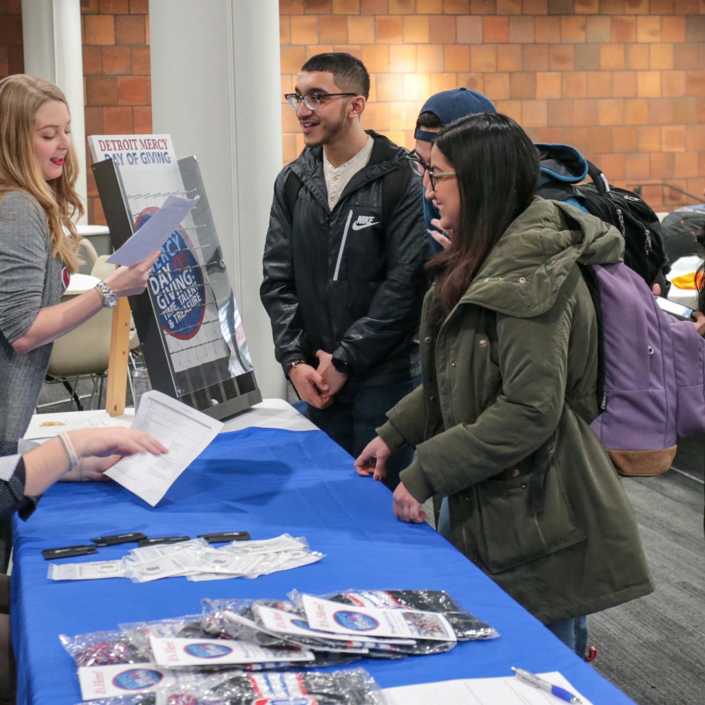 Students learn of alumni support in Day of Giving