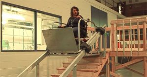 The Wheelchair Escalator will be demonstrated at an event on Thursday, March 22.