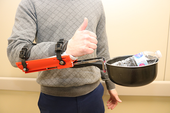 This device can help people who have limited ability to lift heavy objects.