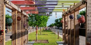 This Detroit Fibre Arts installation has been drawing attention on the median in Livernois for quite a while now. Photo from ModelD