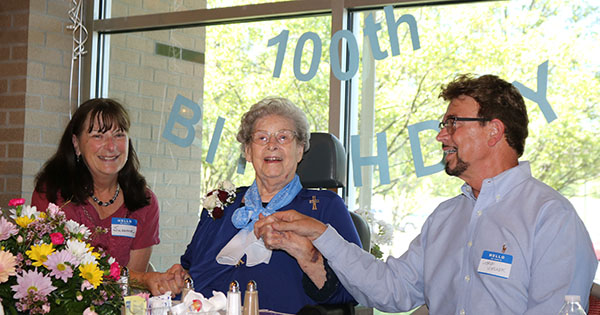 Alumna honored on 100th birthday