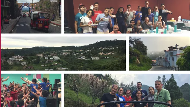 Photographs of previous mission trips to Guatemala.