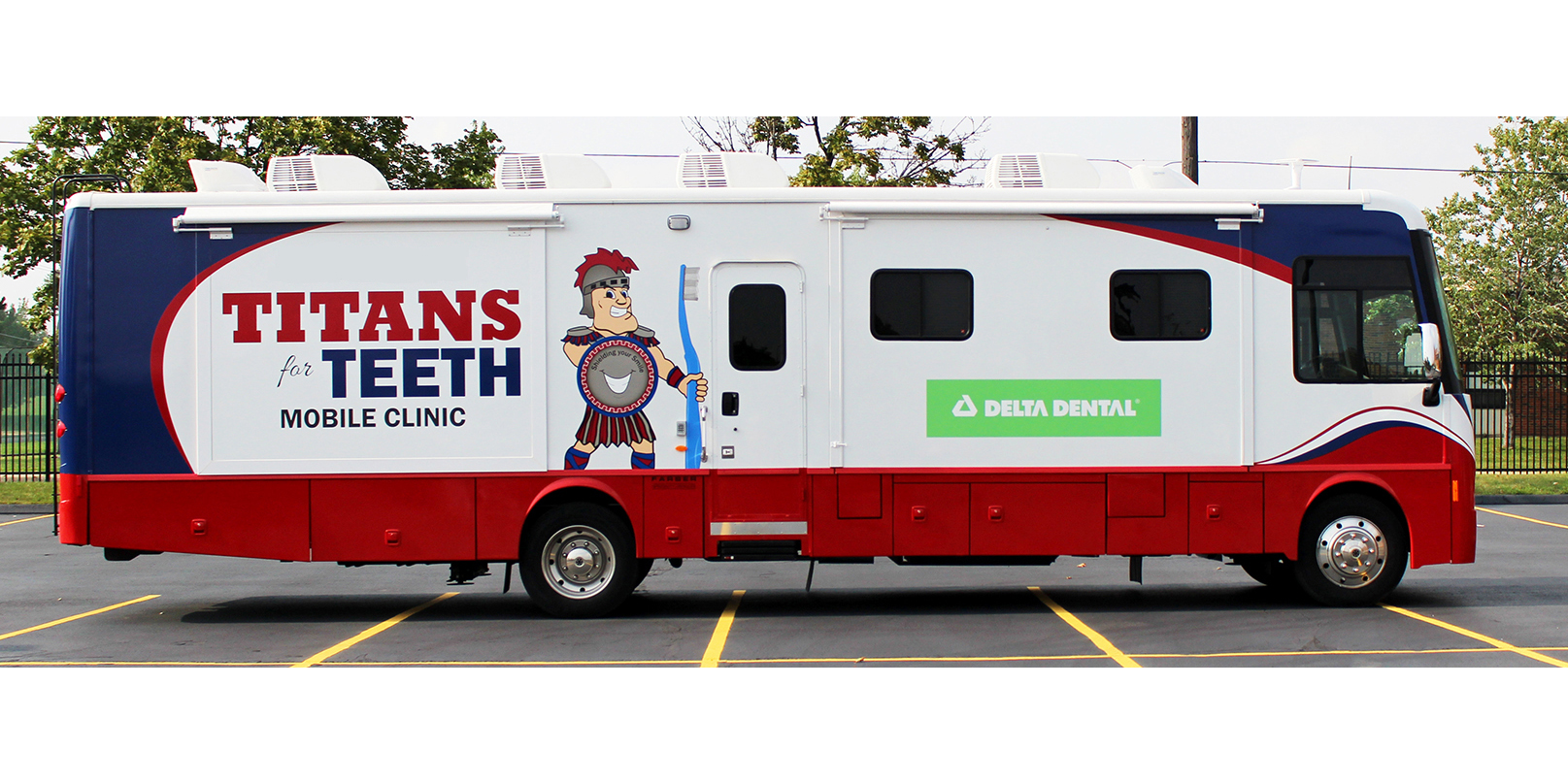 Detroit Mercy Dental's mobile clinic is funded, in part, by corporate grants.