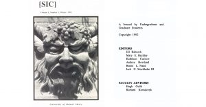 The first issue.