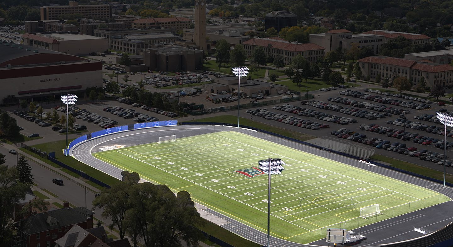Donation meant to inspire others for lights on Titan Field