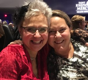 Sisters Nancy Dodge, left, and Sandy Streberger have created a scholarship for Detroit Mercy Nursing students in honor of Dora Mae Rawls, who said she always wanted to be a nurse.
