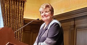 The Hon. Maura Corrigan spoke of the cause for canonization of Blessed Solanus Casey.