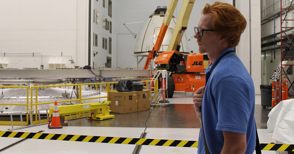 Nicholas Boynton at NASA, where he interned for two summers.