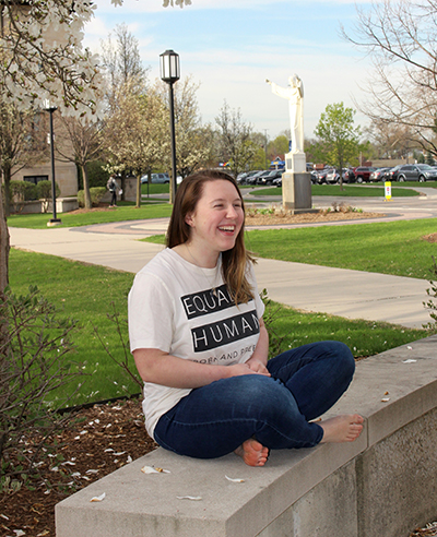 Class of 2019 Valedictorian Mary Margaret Payne plans to enter religious life and serve the poor.