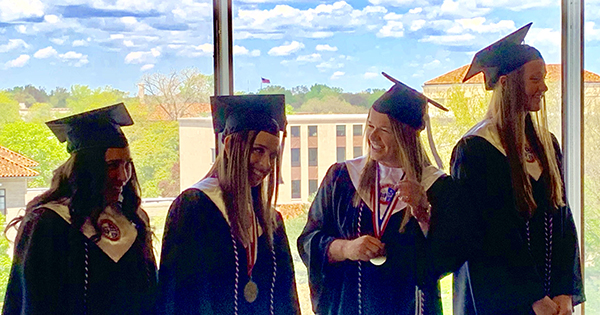 Class of 2019: A special commencement for softball team