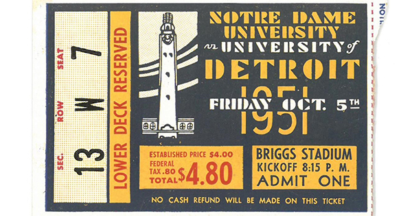 Remembering when the Titans played Notre Dame at Briggs Stadium