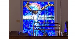 This donated window adorns the 16th Street Baptist Church in Birmingham, Ala., where four little girls were killed in a Ku Klux Klan bombing in 1963.