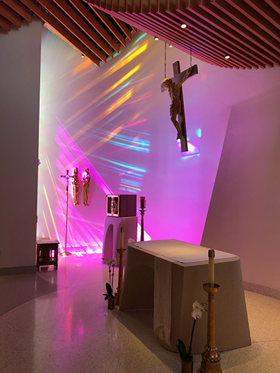 The St. Mary Chapel at St. Mary Hospital in Livonia won an AIA Michigan Honor Award and the People's Choice Award.