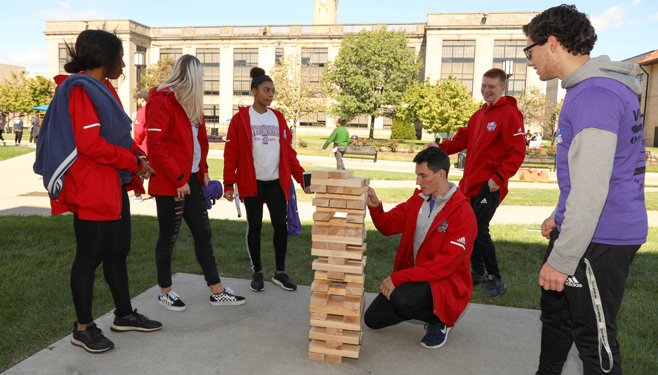 Outdoor games were part of the fun at last year's Homecoming.