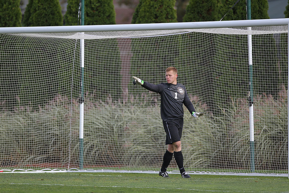 Nathan Steinwascher set several records as a keeper at Detroit Mercy.
