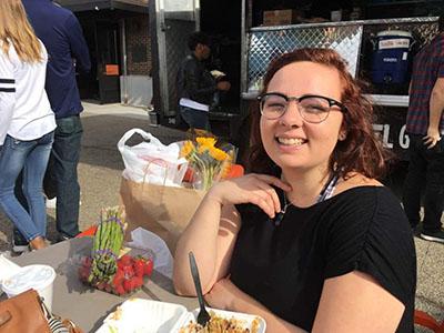 Hannah Tillman '19 having a decidedly unscary lunch.