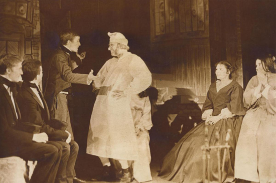 "Arthur Beer, as Scrooge in a previous performance of ""A Christmas Carol."""