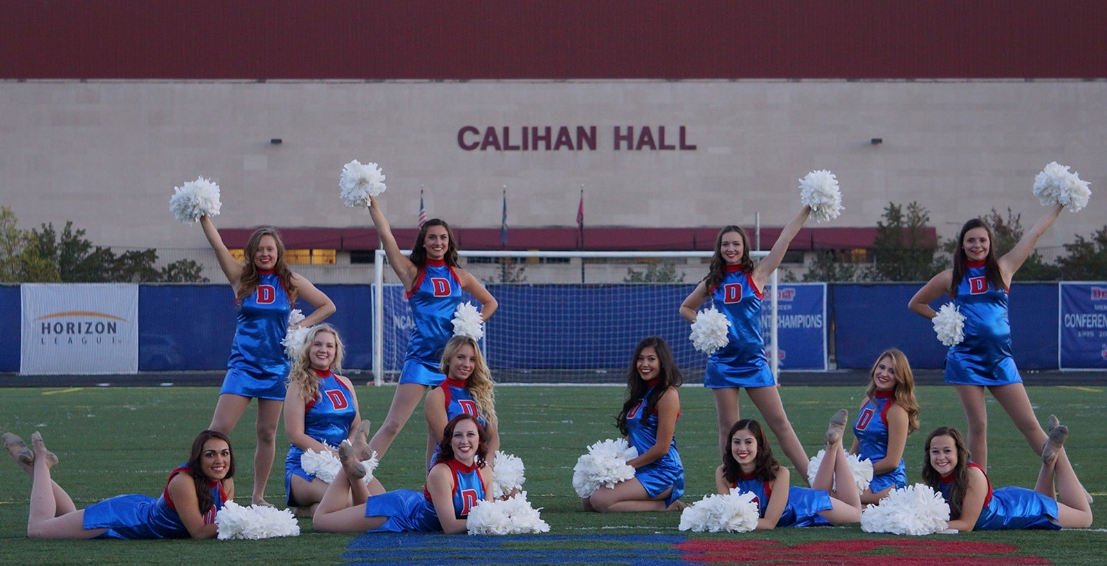 Mackenzie, center right, was on the Dance Team at Detroit Mercy.