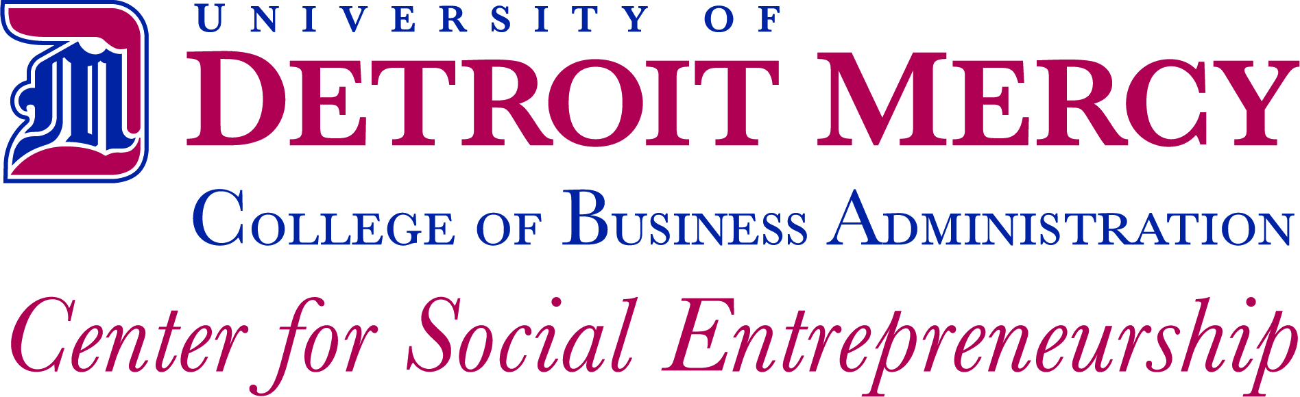 logo for the University of Detroit Mercy's Center for Social Entrepreneurship