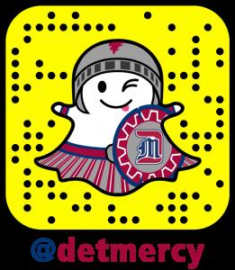 Detroit Mercy Snapchat Ghost Tagline