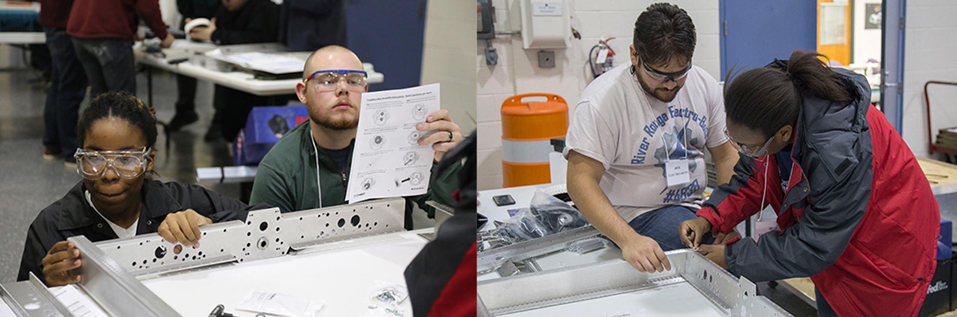 Participants in the Detroit's Robotics Agile Workforce