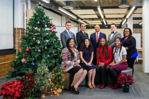 President's Christmas Card 2019 with University President Antoine M. Garibaldi