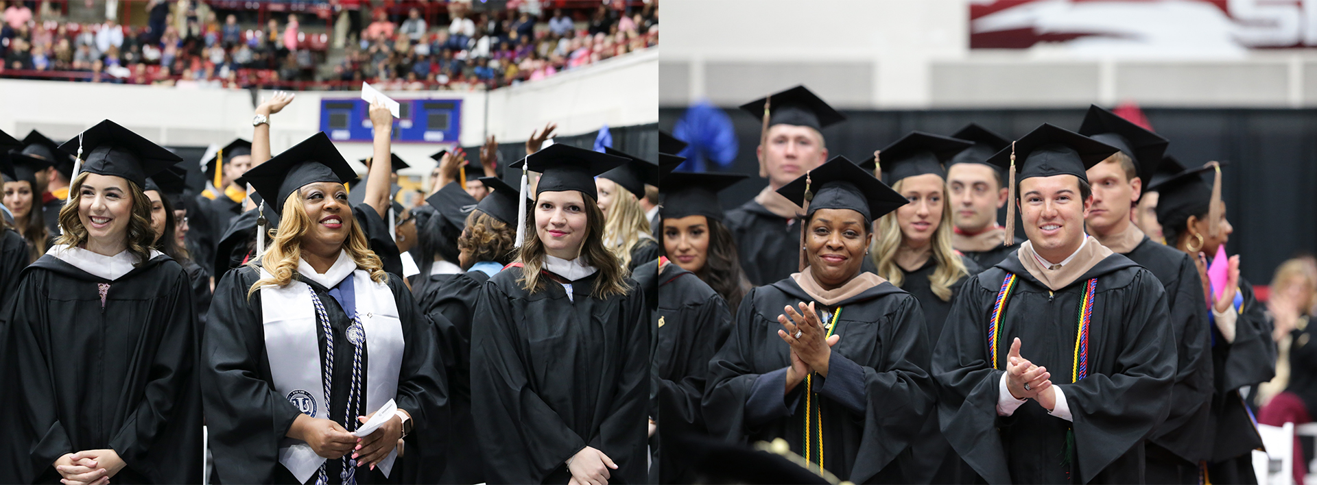 Detroit Mercy Class of 2020 cheering at Commencement.