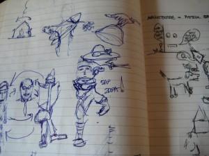 "Process ""Cartoon"" Sketches"